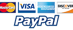 PayPal and major Credit Cards accepted